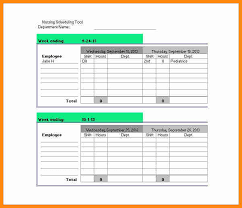 Monthly Work Schedule Template Excel 6 Monthly Work Schedule Template Model Resumed
