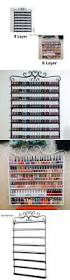 nail practice and display metal flower nail polish display wall