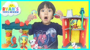 play doh town firehouse toys for kids playdough video ryan