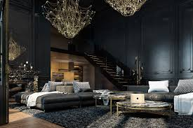 dramatic and black historical apartment in paris lipstick alley