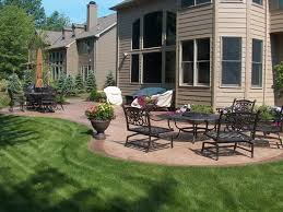 Simple Patio Design Creative Simple Patio Design In Curvy And Rectangular Shapes