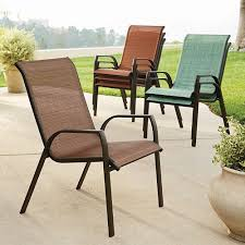 Stackable Sling Chairs Sonoma Stackable Sling Patio Chair 4 Pc Set Only 101 99 25 00