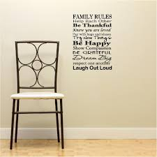 God Bless Our Home Wall Decor by Family Rules Help Each Other Be Thankful Know You Are Loved Pay