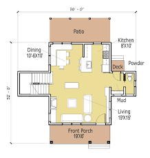 one room cottage plans free house small cabin floor loversiq