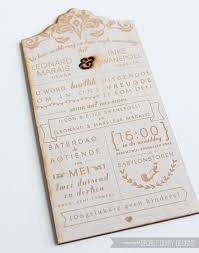 wedding invitations south africa wooden engraved invitations by secret diary designs www
