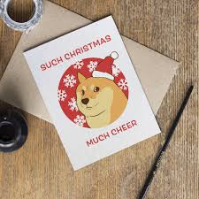 Doge Meme Christmas - doge meme christmas card my etsy shop pinterest doge meme