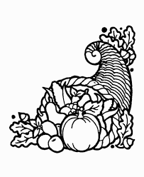 vibrant thanksgiving outline pictures clipart printable images