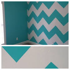 interior wall paint home interior blue white chevron pattern painted wall trendy