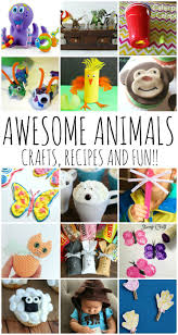 awesome animal crafts recipes and kid ideas and block party rae