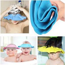 baby shower hat baby kids children safe shoo bath bathing shower cap hat wash