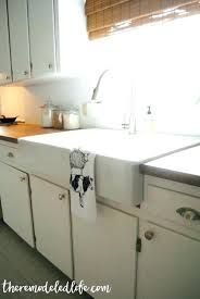 how to install stainless steel farmhouse sink kraus farmhouse sink stainless steel 7 8 single basin gauge