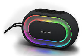 creative halo portable bluetooth speaker with programmable light show creative labs united states