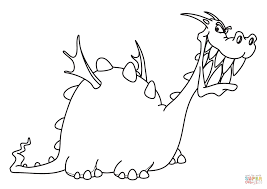 funny dragon coloring page free printable coloring pages