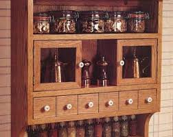 Woodworking Plans Spice Rack Spice Cabinet Etsy