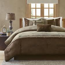 Luxury Comforter Sets California King Amazon Com Madison Park Boone 7 Piece Comforter Set King Brown