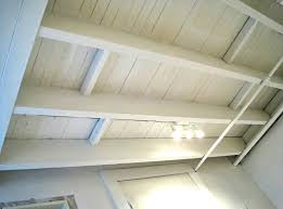 decoration painted white color unfinished basement wood ceiling