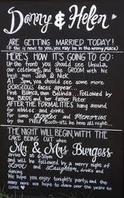 Chalkboard Wedding Program Template How To Have An Unplugged Wedding Copy U0027n U0027 Paste Wording And