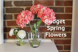 cheap decor idea acrylic water flower arrangement youtube