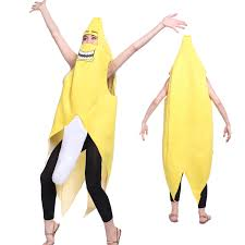 Banana Halloween Costume Unisex Banana Fruit Costume Fancy Dress Hen Stag Night Party