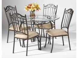 Wrought Iron Chairs For Sale Fantastic Iron Dining Chairs With Black Wrought Iron Table And