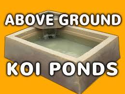 above ground pond easy outdoor or indoor above ground koi pond
