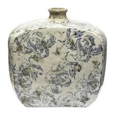 Blue Bottle Vase Sagebrook Home Vs10087 03 Kylie Blue Bottle Vase The Mine