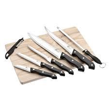 couteau cuisine pradel pradel excellence planche en bois avec 5 couteaux de cuisine un