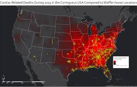 Live Attack Map Cardiac Related Deaths During 2013 In The Contiguous Usa Compared