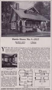 Craftsman Bungalow House Plans Side Gabled Craftsman Style Bungalow 1918 Harris Bros Co Kit