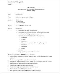visit agenda template