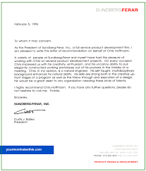 letter of recommendation format letter of recommendation sles
