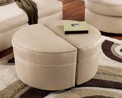 round upholstered coffee table coffee table round upholstered coffee table ottoman tray leather