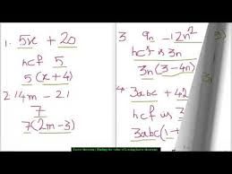 factorisation grade 8 youtube