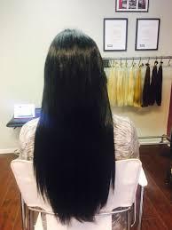 hair extension salon client photos