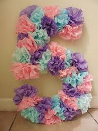 tissue paper birthday number use different colors and googly eyes