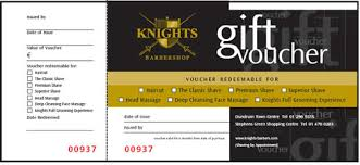 gift voucher samples cool barbershop gift voucher template sample with black and gold