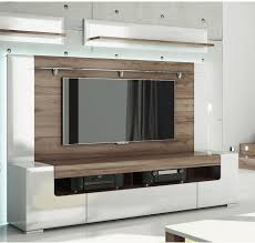 amazon com toronto tv cabinet with wall panel large u2013 living