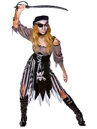 ladies zombie pirate costume cutthroat ghost halloween fancy dress