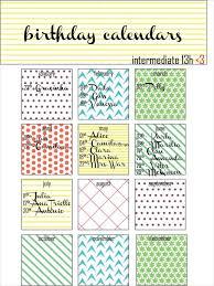 Free Birthday Calendar Template Excel 21 Birthday Calendar Templates Free Sle Exle Format
