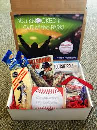 you knocked it out of the park baseball themed gift box cracker