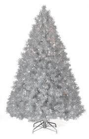 6 ft silver tinsel clear lit tree tree market