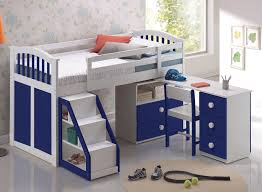 Beautiful Toddler Bedroom Furniture Sets Low White Loft Bunk Bed For Kids With Storage And Ladder Amys Office