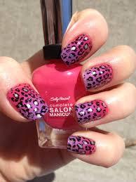 cheetah nail designs pink and purple gradient cheetah nails