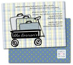 Open House Invitations Suitcase Open House Invitation