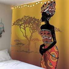 african girl tree sunset waterproof wall tapestry colorful w african girl tree sunset waterproof wall tapestry colorful w59 inch l79 inch