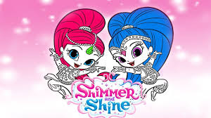 shimmer and shine coloring pages for kids learning rainbow colors