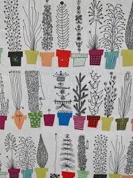 scandinavian modern fabric italian blooms by olle eksell 1 yard x