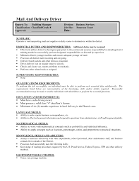 Sample Resume Of Driver Driver Skills Resume