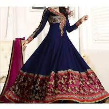 dress pic new designer anarkali navy blue party wear dress chi 22 online