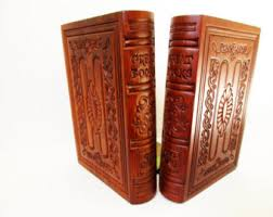 engraved bookends masculine bookends etsy